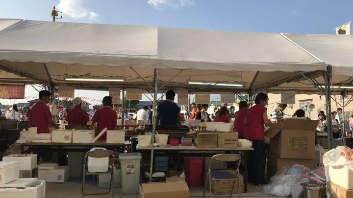 大和郡山小学校の夏祭りで唐揚げリベンジ!